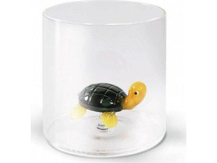 Sklenice z borosilikátového skla s dekorací želvy - WD Lifestyle