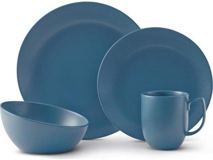 Sada kameninového nádobí Orbit - Aurora Blue, 4ks - Nambé