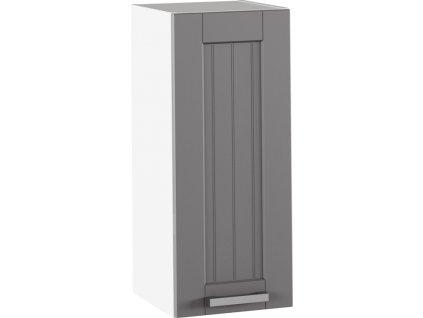 Horní skříňka, tmavě šedá/bílá, JULIA TYP 2