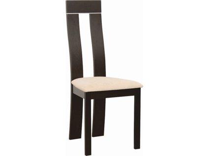 Dřevěná stolička, wenge/látka béžová magnolie, DESI NEW