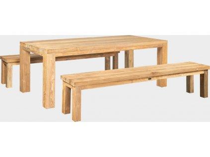 FLOSS RECYCLE - masivní stůl z teaku