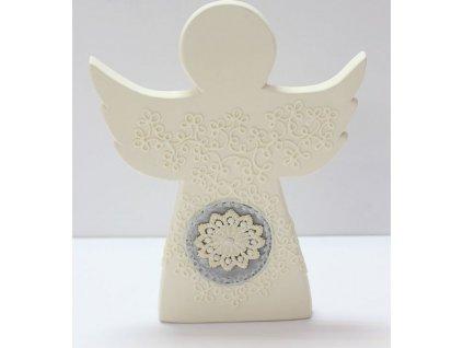Béžový anděl s krajkou ARP0597