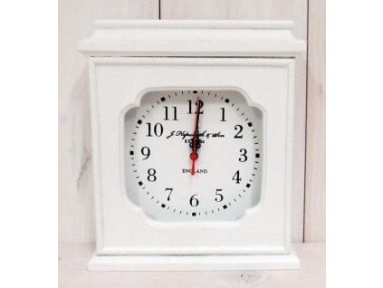 Bílé dřevěné hodiny na postavení TW0038