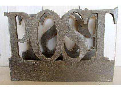 Dřevěný stojan na noviny AF0014A