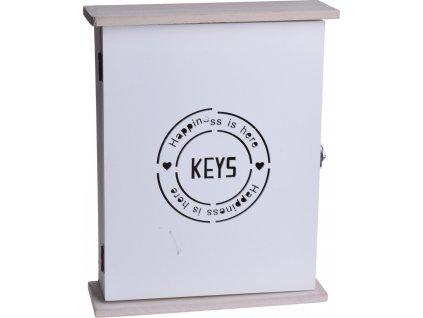 Bílá skříňka na klíče Keys 1702