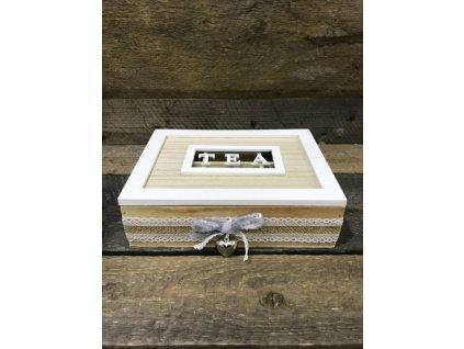 Dřevěná krabička na čaj tea CD0007