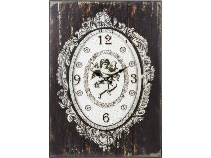 Dřevěné hodiny s andělem 77195