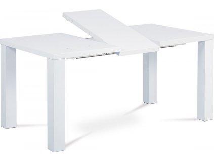 Moderní jídelní stůl rozkládací 120 40x90 cm, vysoký lesk bílý