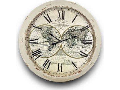 Kovové hodiny s patinou 101183