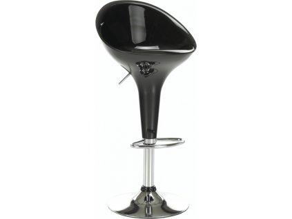 Barová židle, černá / chrom, ALBA NOVA