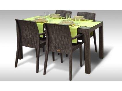 Zahradní sestava Arizona + 4 židle Montana