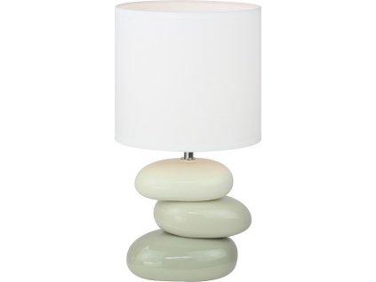 Keramická stolní lampa, bílá / šedá, QENNY TYP 4
