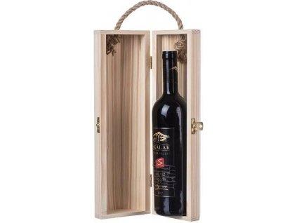 Dřevobox Dřevěná truhla na víno osmihran