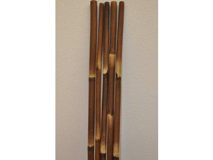 Bambusová tyč 5 - 6 cm, délka 2 metry - barvená hnědá