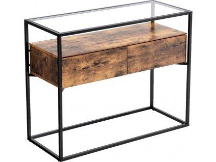 Barový stůl Stella, 100 cm, hnědá / černá