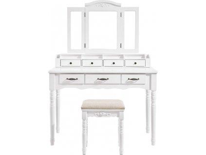 Toaletní stolek July, 148 cm, bílá