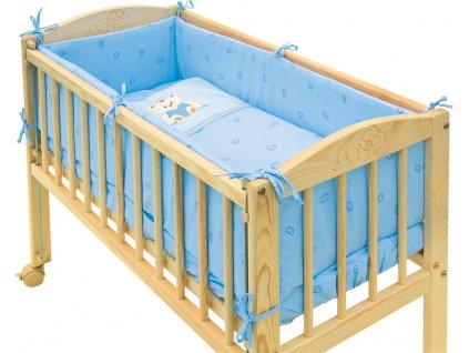 7dílná souprava do postýlky Scarlett Baby MÉĎA 90 x 41 cm - modrá