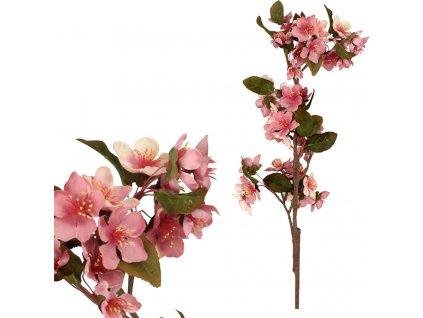 Třešňový květ, barva růžová. Květina umělá.