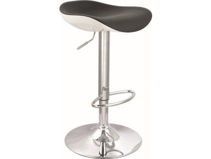 Barová židle KROKUS C-631 černá/bílá