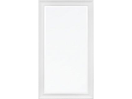 Dřevěné zrcadlo bílé 115879