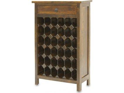 Dřevěný stojan na víno 111534