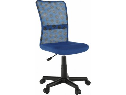 Otočná židle, modrá/vzor/černá, GOFY