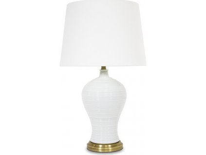 Bílá lampa se zlatými detaily 108031