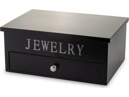 Černá šperkovnice dřevěná 135911