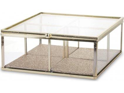 Dekorační krabička skleněná 135850