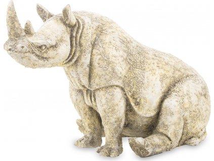 Béžová soška nosorožec 137575