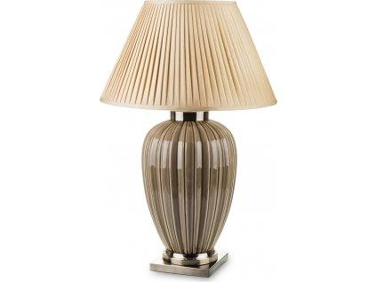 Béžová lampa vroubkovaná 138205
