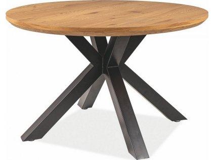 Jídelní stůl RITMO 120 dub/černá mat