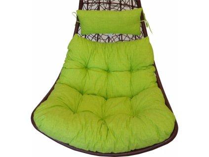 Polstr na houpačku Margarita - látka světle zelený melír
