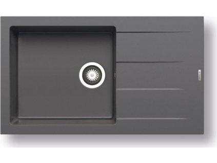 Pyragranitový dřez  ATHLOS 1B 1D PLUS (86x50) iron grey