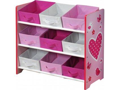 Organizér na hračky růžový