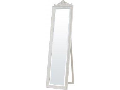 Bílé zrcadlo na stojanu 106115