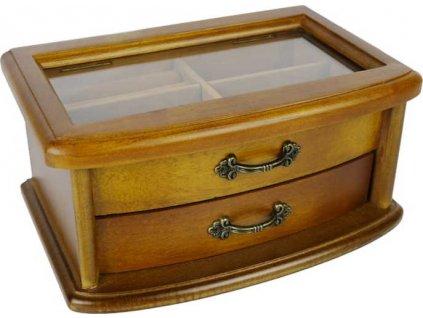 Dřevěná šperkovnice retro 58398