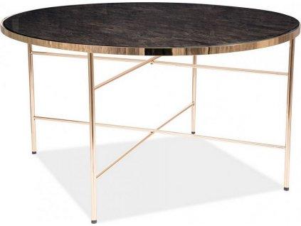 Konferenční stolek IBIZA B mramor/zlatý