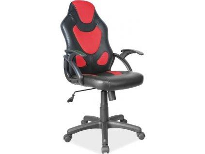 Kancelářské křeslo Q-100 černá/červená