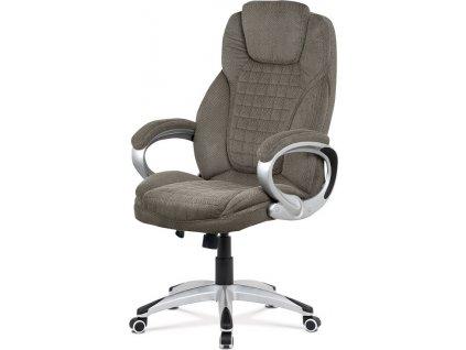 Kancelářská židle, tmavě šedá látka, kříž plastový stříbrný, houpací mechanismus