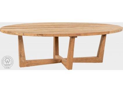 Masivní jídelní stůl z teakového dřeva Iskra