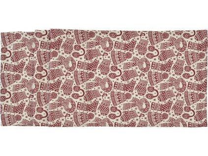Vánoční středový pás Cappello 40 x 150 cm, červený - Sander
