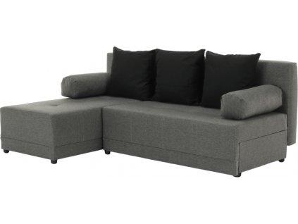 Rohová sedací souprava, šedá / černá, levá, MEXX NEW