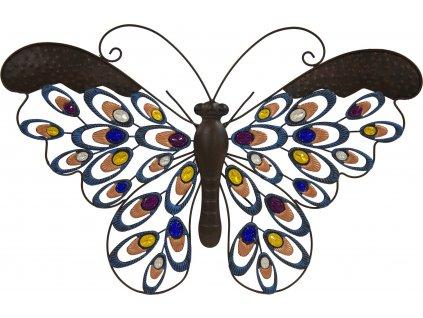 Dekorační kovový motýl 115045