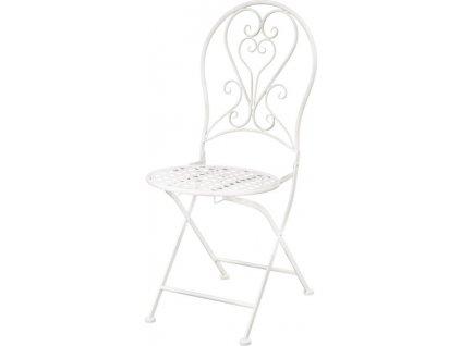 Bílá kovová židle 115023