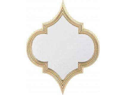 Atypické zrcadlo se zlatým rámem 131921