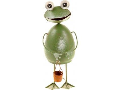 Žába stojící, kovová dekorace