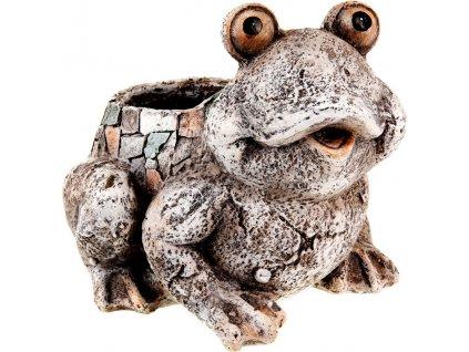Žába, obal na květiny z magneziové keramiky, zahradní dekorace.