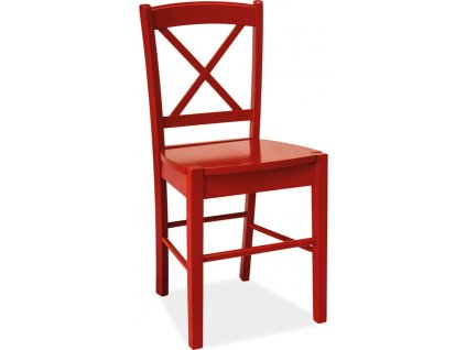 Jídelní dřevěná židle CD-56 červená