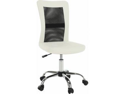 Kancelářské křeslo, černá/bílá, IDOR NEW